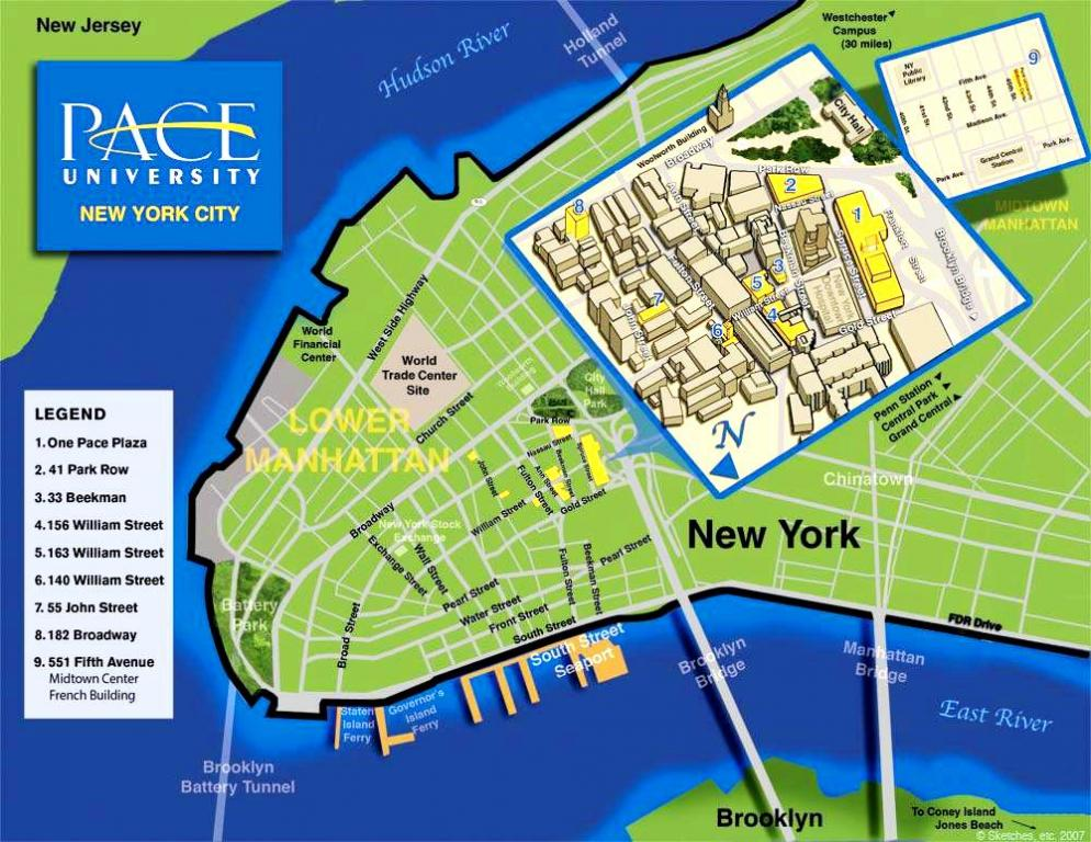Pace University Pleasantville Campus Map.Pace University Nyc Campus 佩斯大學 紐約市校園 Study Usa Seminar