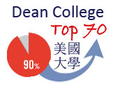 Litz USA students who started at Dean College, mostly transferred to Top 70 Universities in USA