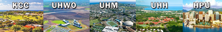 locations of 5 Hawaii colleges